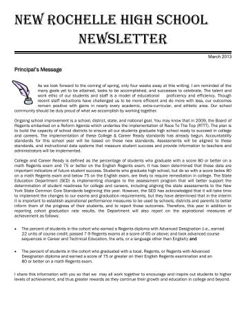NRHS-Newsletter March 2013.pdf - New Rochelle High School