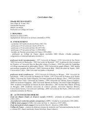 Voir son CV détaillé - Académie des sciences morales et politiques