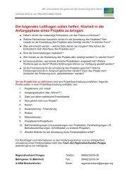 Checkliste Projektumsetzung - Regionalverband Pongau