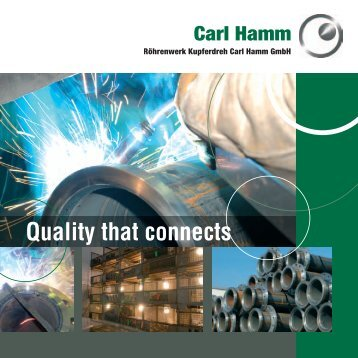 Quality that connects - Carl-Hamm