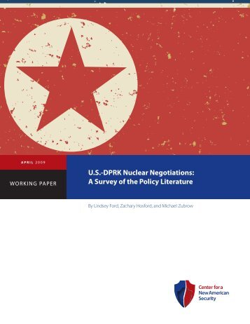U.S.-DprK Nuclear Negotiations: a Survey of the policy literature