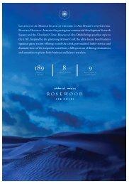 Fact Sheet - Rosewood Hotels & Resorts