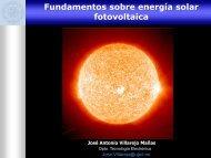 El sistema fotovoltaico