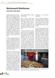 Wochenmarkt Rheinhausen - FrischeKontor Duisburg GmbH