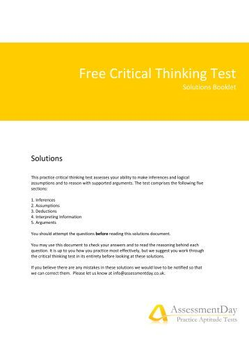 ati critical thinking exam Measured by ati's critical thinking exam ati's definition of critical thinking includes specific competencies including: interpretation, analysis.