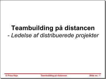 Teambuilding p distancen IDA 2 OKT 2012