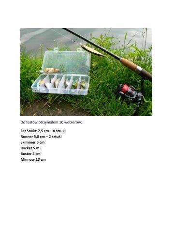 Opis testu woblerów szczupakowych Robinson Krzysztof Kalinowski