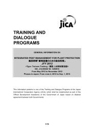 TRAINING AND DIALOGUE PROGRAMS