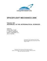 spaceflight mechanics 2006 - Univelt