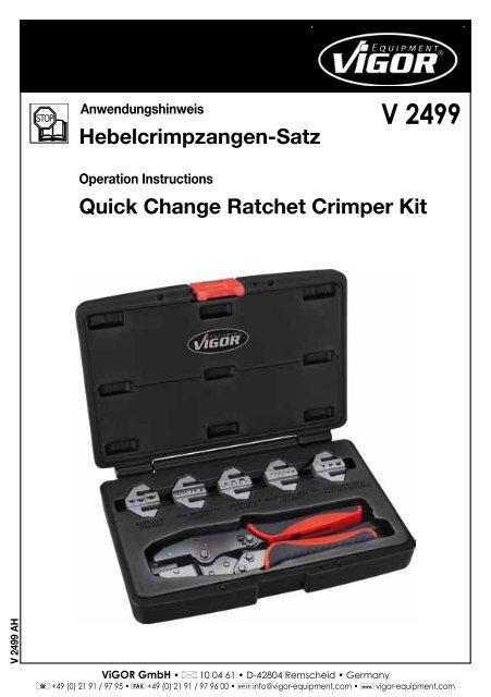 V2499 - Vigor Equipment