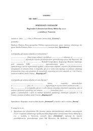 Regionalne Laboratorium Oceny Mleka Sp. z o.o. z siedzibą w ...