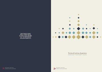 Yatra Capital Ltd Annual Results 2008-2009