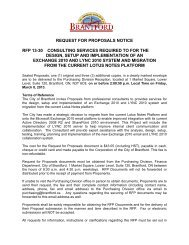 REQUEST FOR PROPOSALS NOTICE RFP 13-30 ... - City of Brantford