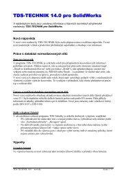 TDS-TECHNIK 14.0 pro SolidWorks