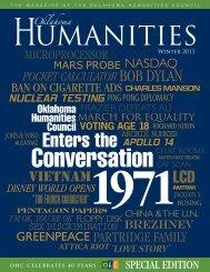 Oklahoma Humanities magazine - Oklahoma Humanities Council