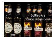 Bottled Ale Range Suggestions - bottled butcombe