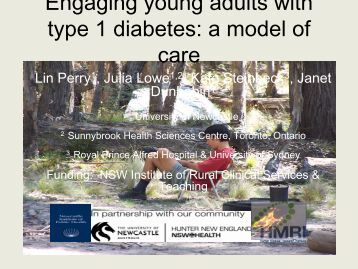 Engaging young adults with type 1 diabetes: a new model of care