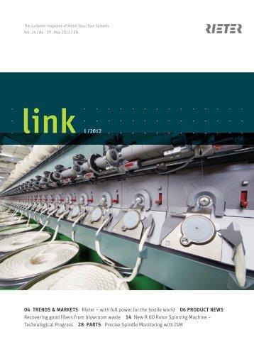 link no. 59 customer magazine spun yarn systems - Rieter
