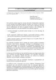 l'agriculture et la paysannerie en algerie - Institut Agronomique ...