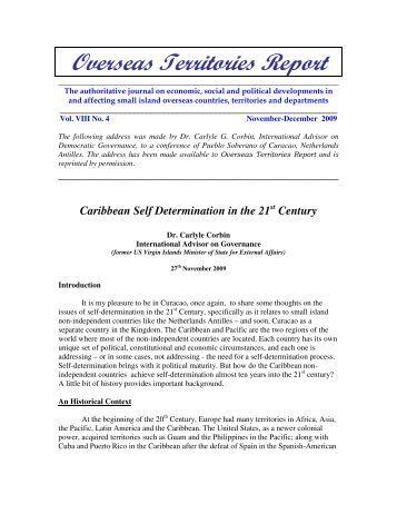 Overseas Territories Report - Norman Girvan