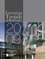 Emerging Trends in Real Estate® 2009 - Urban Land Institute