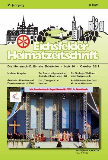 Oktober 2011 55. Jahrgang - Mecke Druck und Verlag