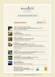 Frühling und Sommer - Rhein Hotel Restaurant Martinsklause