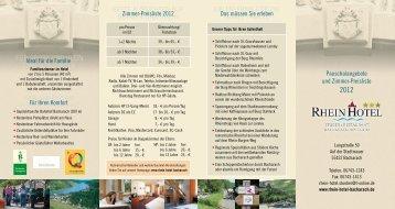 Urlaub umgeben von Burgen und Wein - Rhein Hotel Restaurant ...