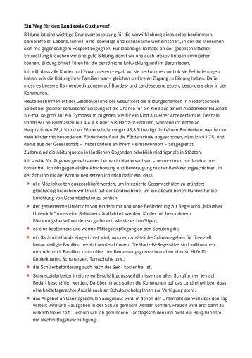 Ein Weg für den Landkreis Cuxhaven? - Carsten Zinn