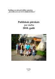 2010. gads - Kuldīgas Galvenā bibliotēka