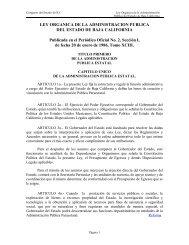 LEY ORGANICA DE LA ADMINISTRACION PUBLICA - Tijuana