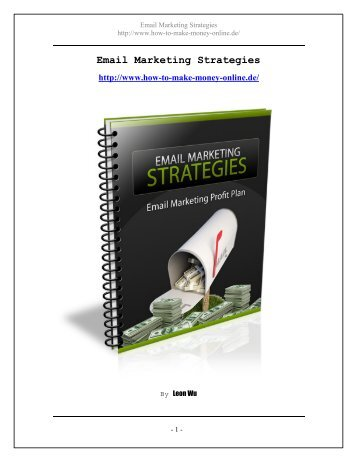 Email Marketing Strategies - How To Make Money online