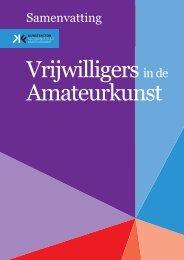 Onderzoek Vrijwilligers in de Amateurkunst