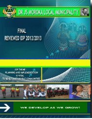 Dr JS Moroka Local Municipality 20 - Co-operative Governance and ...