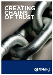 CREATING CHAINS OF TRUST - Röhlig