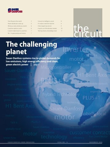 The Circuit #12, November 2008 (PDF 9 MB - Sauer-Danfoss