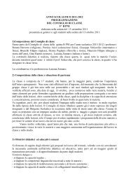 ANNO SCOLASTICO 2001 - 2002 - G. Veronese