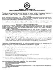 Notice of Medical Privacy Practices (HIPAA) - Broward Sheriff's Office