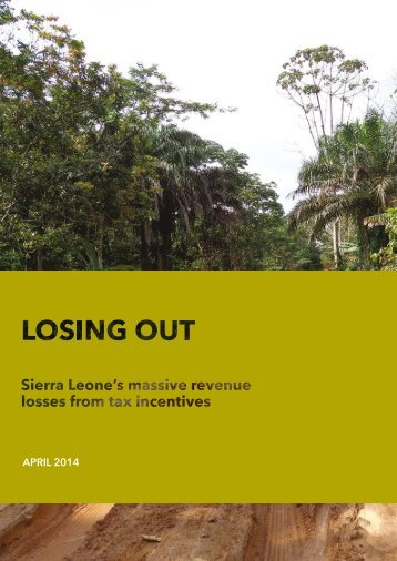 Losing Out. Final report. April 2014