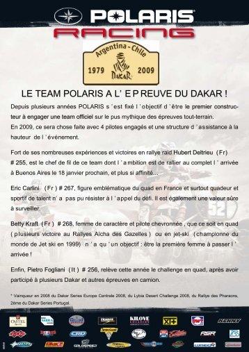 Polaris Dakar 2009 intro - Club Polaris