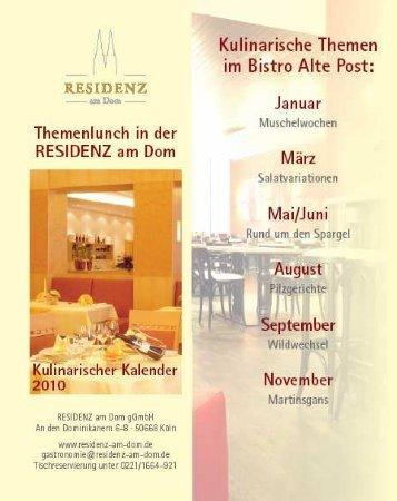 RaD Kulinarischer Kalender 2010 - Residenz am Dom