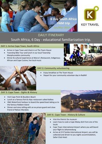 South Africa Fam Trip - Key Travel