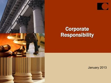 Corporate Responsibility - Chubb Group of Insurance Companies