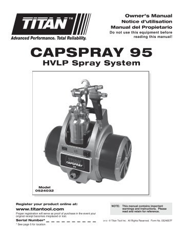 CAPSPrAy 95 - Paint Sprayers, HVLP Sprayers, Powered Rollers