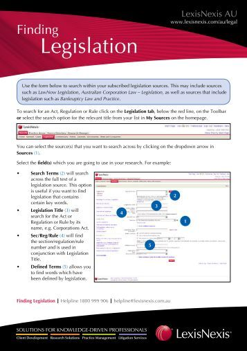 Legislation - LexisNexis