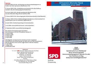 Das Nordlicht 1/2009 - SPD Münster-Nord