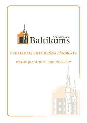 Finanšu rādītāji par 2009.gada 3. ceturksni - Baltikums