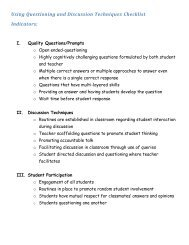Questioning and Discussion Indicators - is34.org
