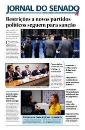 Restrições a novos partidos políticos seguem ... - Senado Federal