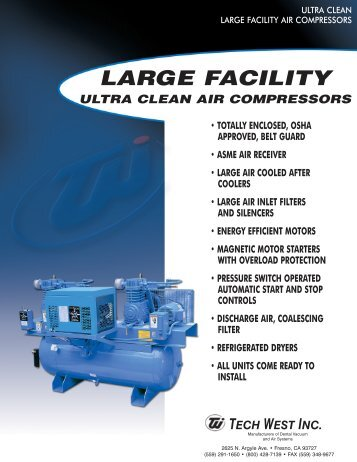 large facility ultra clean - Tech West